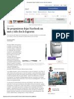 Se Propusieron Dejar Facebook Un Mes y Sólo Dos Lo Lograron