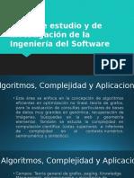 Áreas de estudio y de investigación de la Ingeniería del Software
