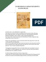 Asal Usul Dan Sejarah Al-quran