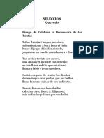 Quevedo - Tres Poemas