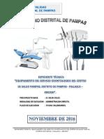 Expediente Tecnico Equipa. Odontologico Pampas
