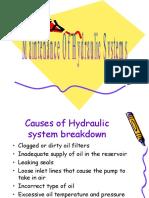 Maintenance of Hydraulic System