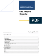 Gap Analysis Checklist