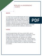 MISIÓN Y VISIÓN de La Universidad Andina Del Cusco