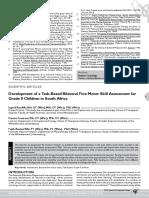 Avaliação e Programa de to p Desenvolvimento Motor