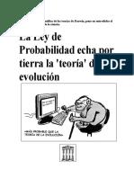 LA LEY DE PROBABILIDAD ECHA POR TIERRA LA 'TEORÍA' DE LA EVOLUCIÓN