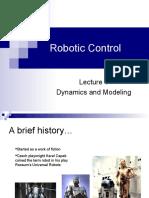 Lecture 2 - (Robotic Control)