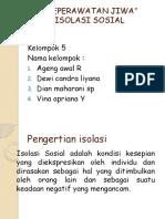 ISOLASI SOSIAL PPT