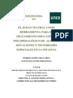 EL JUEGO TEATRAL COMO HERRAMIENTA PARA EL TRATAMIENTO EDUCATIVO Y PSICOPEDAGÓGICO DE ALGUNAS SITUACIONES Y NECESIDADES ESPECIALES EN LA INFANCIA