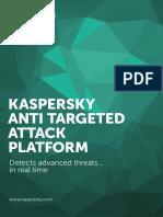 3). Kaspersky Anti Targeted Attack Platform DS