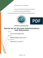Teorías de Las Escuelas Administrativas Más Relevantes