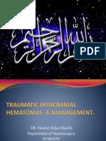 Traumatic Ic Hematomas & Management
