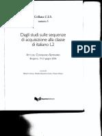 Studi sulle sequenze di acquisizione della lingua -Andorno_2008