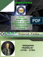 Sejarah Fisika (Benjamin Franklin)