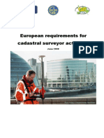 European Requirements for Cadastral Surveyor Activities