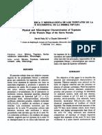 Caracterización Fisica y Meneralógica Del Tepetate