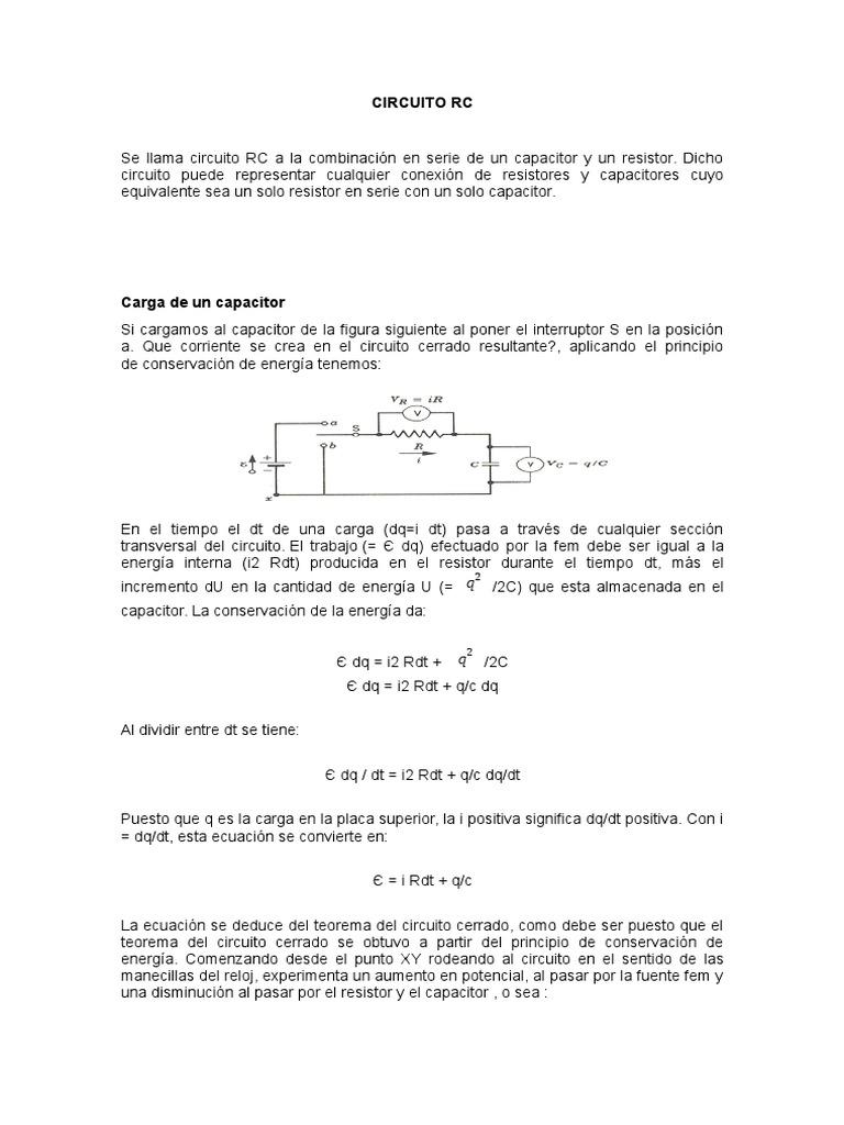 Circuito Rc : Circuito rc fundamentos teórico