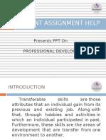 Sample PPT on Professional Development