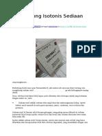 Menghitung Isotonis Sediaan Steril