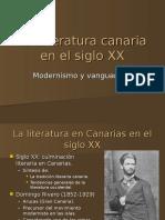 La literatura canaria en el siglo XX