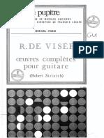 R. de Visée-Oeuvres complètes guitare-robert Strizich Ed