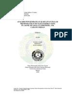 09e00662 Skripsi Juwita Sari Analisi Pengemb Karyawan Thd Kualitas Kerja