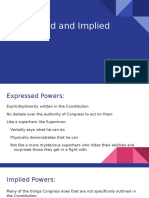 expressed and implied powers  1