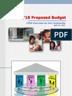 FY18 CFSA Budget Brief