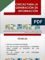 Técnicas Generación de Información 2017