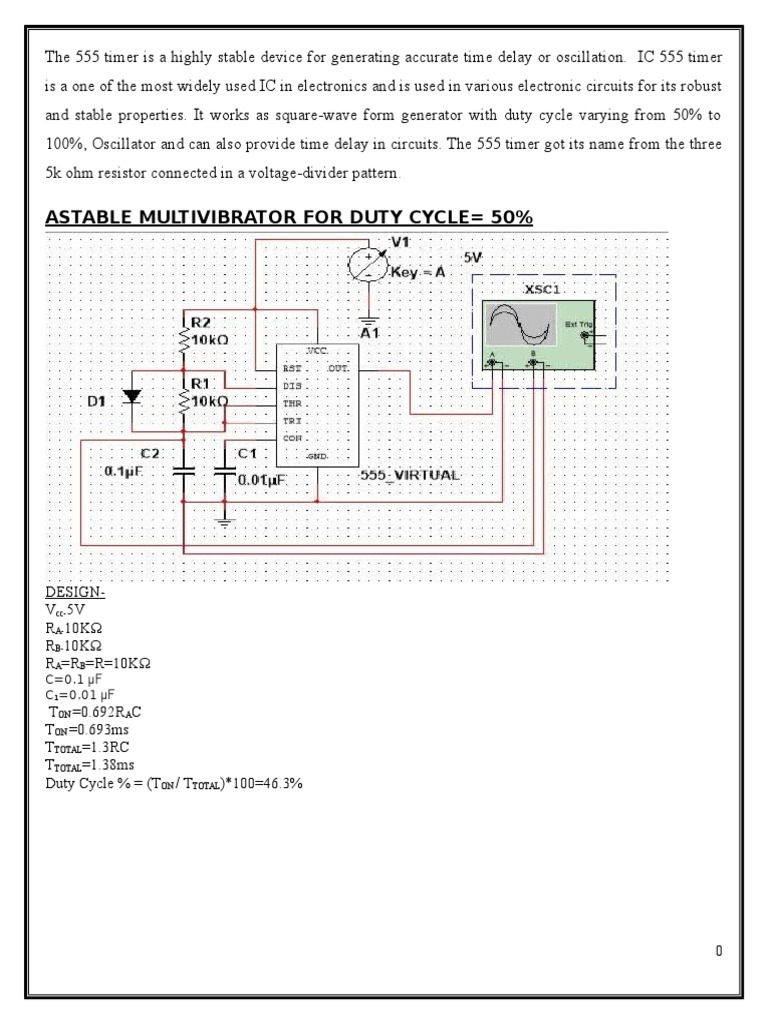 555 Timer Electronic Circuits Electricity Astable Circuit Diagram