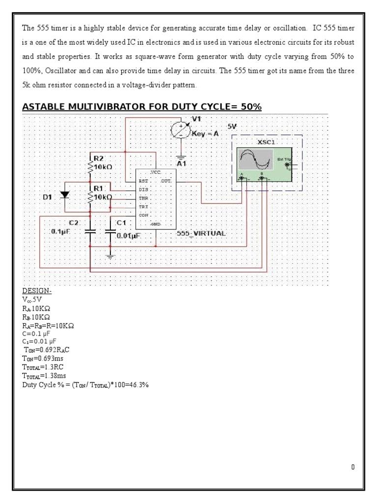 555 Timer Electronic Circuits Electricity Oscillator Circuit