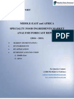 Market Entry Report on Middle East and Africa Specialty Food Ingredients Growth 2016-2021