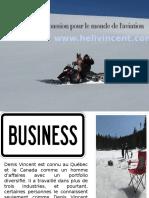 Denis Vincent a Une Immense Passion Pour Le Monde de l'Aviation
