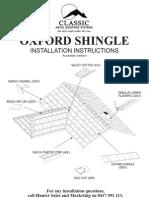 Oxford Shingle Instalation Instructions