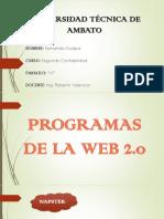 Programas de La Web 2.0 Fer