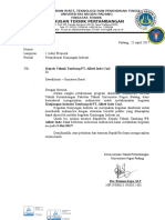 Surat Kunjungan Industri Untuk KTT