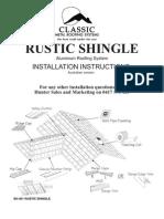 Rustic Shingle Instalation Instructions