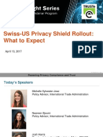 Swiss-US Privacy Shield Rollout What to Expect - Privacy Insight Series Webinar
