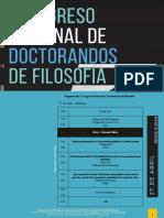 Programa I Congreso Nacional de Doctorandos de Filosofía