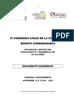 Documento Académico IV Congreso Casas de La Cultura