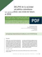 Un Estudio DEPLHI de La Sociedad y La Seguridad Publica Colombiana Del Posconflicto Una Vision de Futuro Al 2032