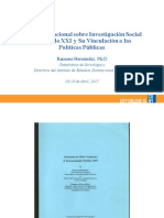 Investigación Social y Políticas Públicas