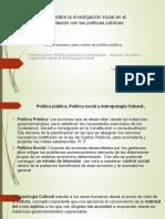 El ser humano como centro de política pública