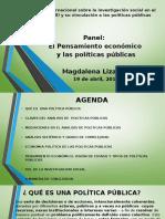 El Pensamiento económico  y las políticas públicas