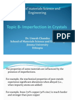 Imperfection in Crystals