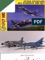 Papermodelsemule Fly Model 051 Sea Harrier Super Et