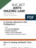 RA 8049 Anti Hazing