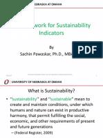 a framework for sustainability indicators