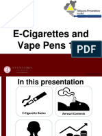 E-Cigarettes and Vape Pens 101