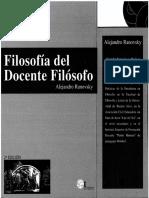 6988-Ranovsky, Alejandro - Filosofía del Docente Filósofo.pdf